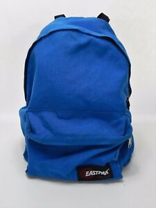 Image is loading Eastpak-Nylon-Blue-Backpack-Made-in-USA