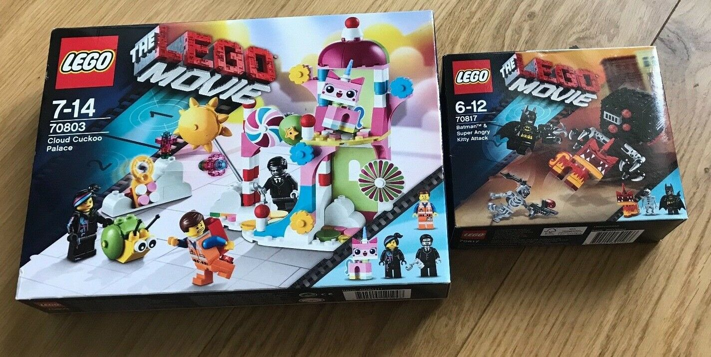 LEGO MOVIE - 70817 70803 - UNIKITTY & BATMAN - NEW & SEALED - FREE POSTAGE