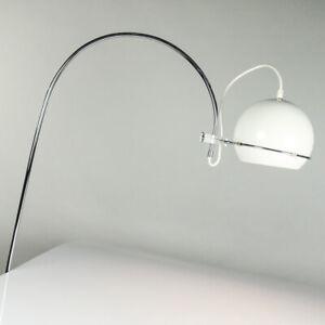 GEPO-Wand-Bogen-Leuchte-Chrom-Acryl-Lese-Lampe-60er-70er-Vintage-Design