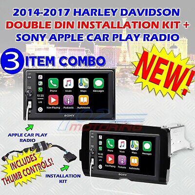 2014-2019 HARLEY DAVIDSON SONY DDIN MULTIMEDIA RADIO KIT APPLE CARPLAY  BLUETOOTH 27242911307 | eBay