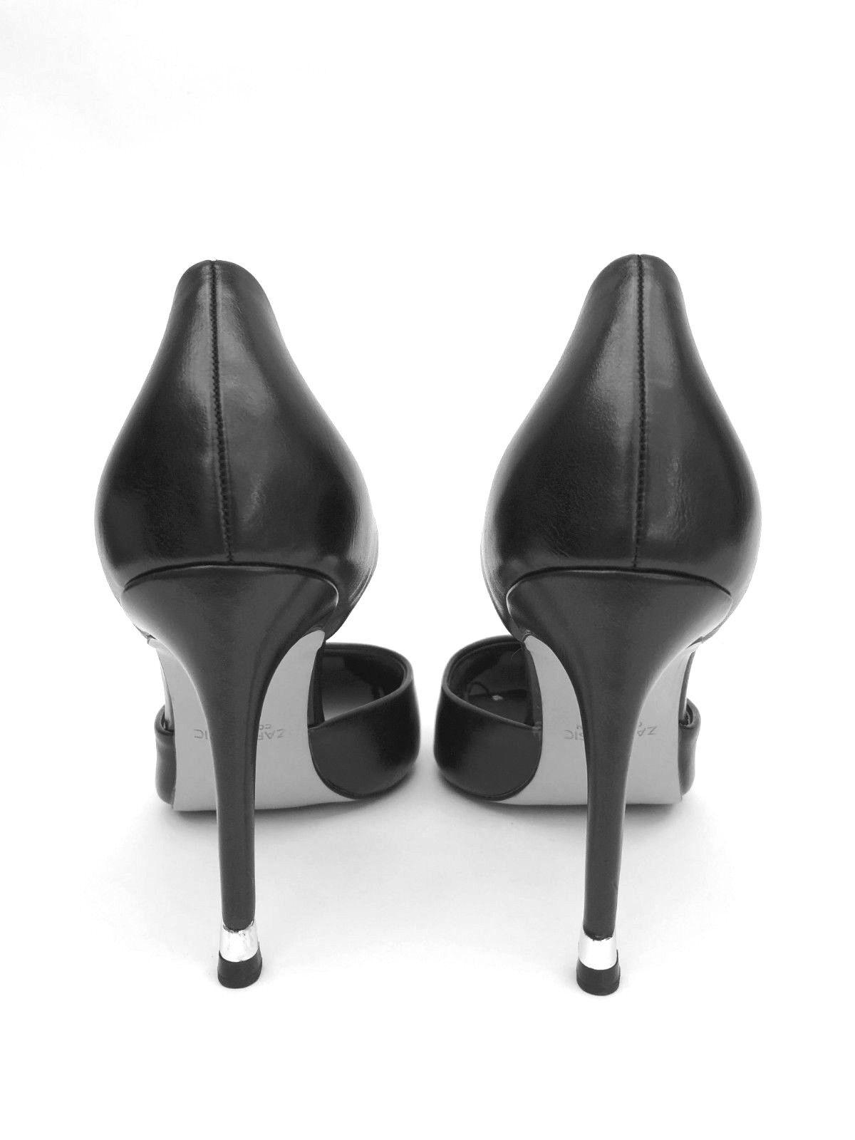 ZARA BLACK D'ORSAY HIGH HEEL Schuhe SIZE UK 5 UK 7 REF 2232 301