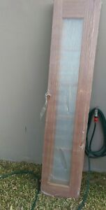 Door-side-panel-maple-timber-clear-glass-panel-2040-x-405-x-35
