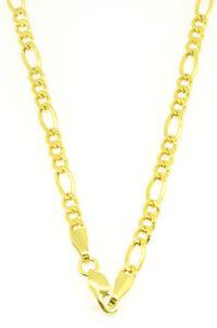 Edle-Figaro-Kette-585-Gold-14-Kt-Gelbgold-Neu-50-cm-Halskette-fuer-sie-amp-ihn