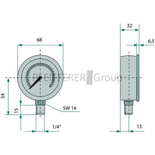 TarosTrade 57-0949-R-46210 Glace De R/étroviseur    Droit