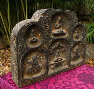 ALTER-kleiner-tibet-Schrein-mit-Buddha-ein-Unikat