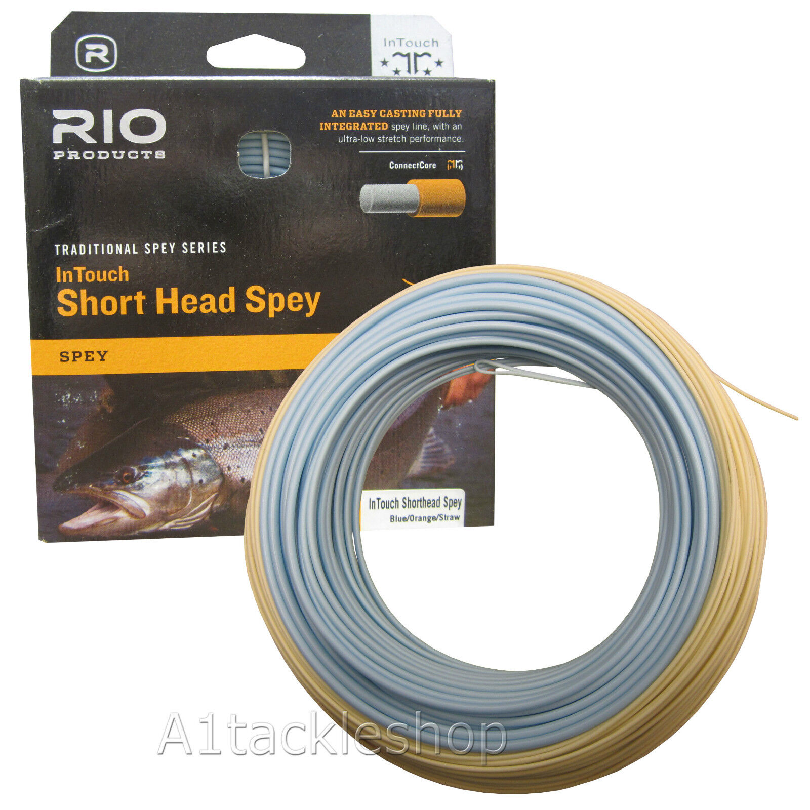 Rio In Touch Short Head Spey Fly Line Blau Orange Straw