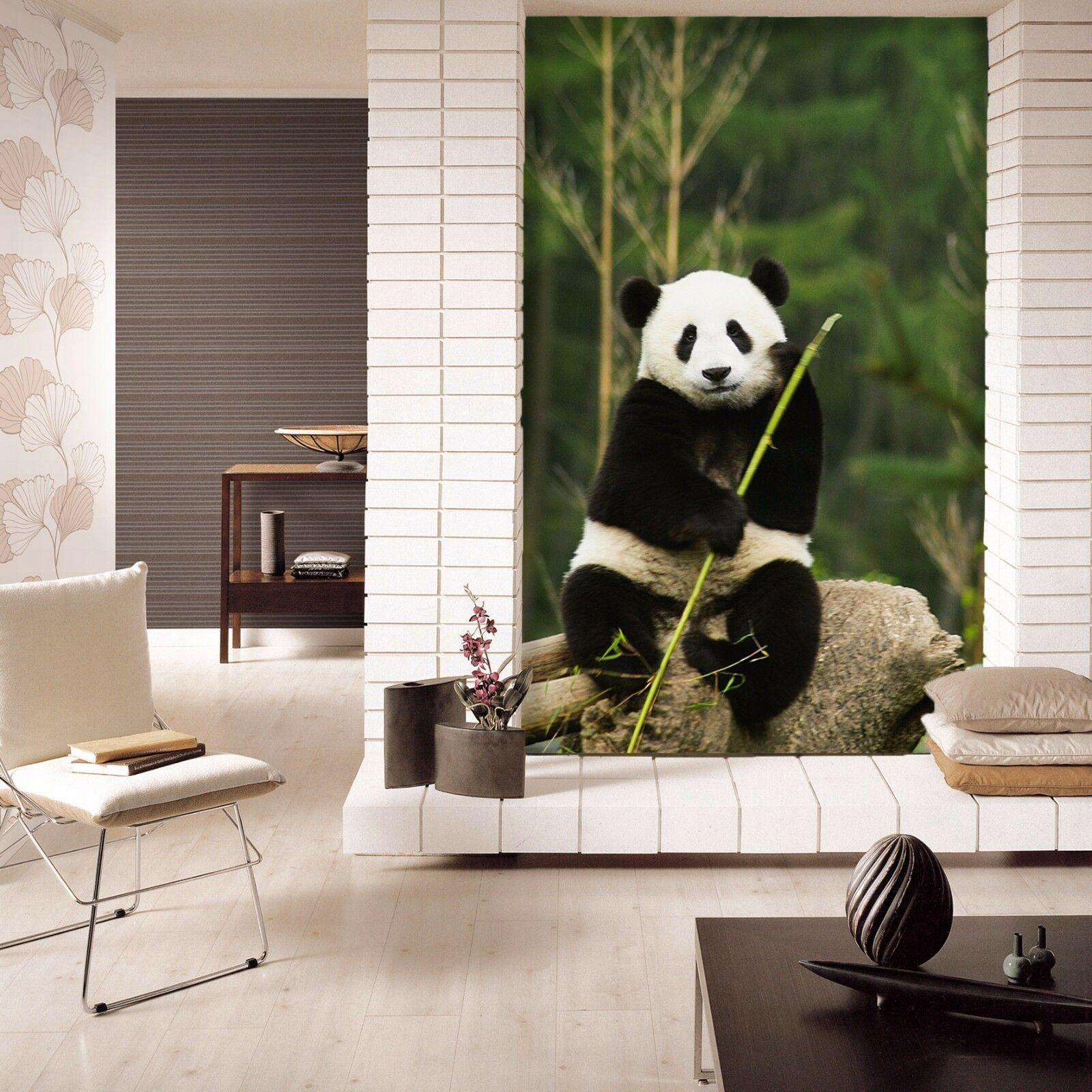 3D Lovely Sitting Panda 1210 Paper Wall Print Wall Decal Wall Deco Indoor Murals