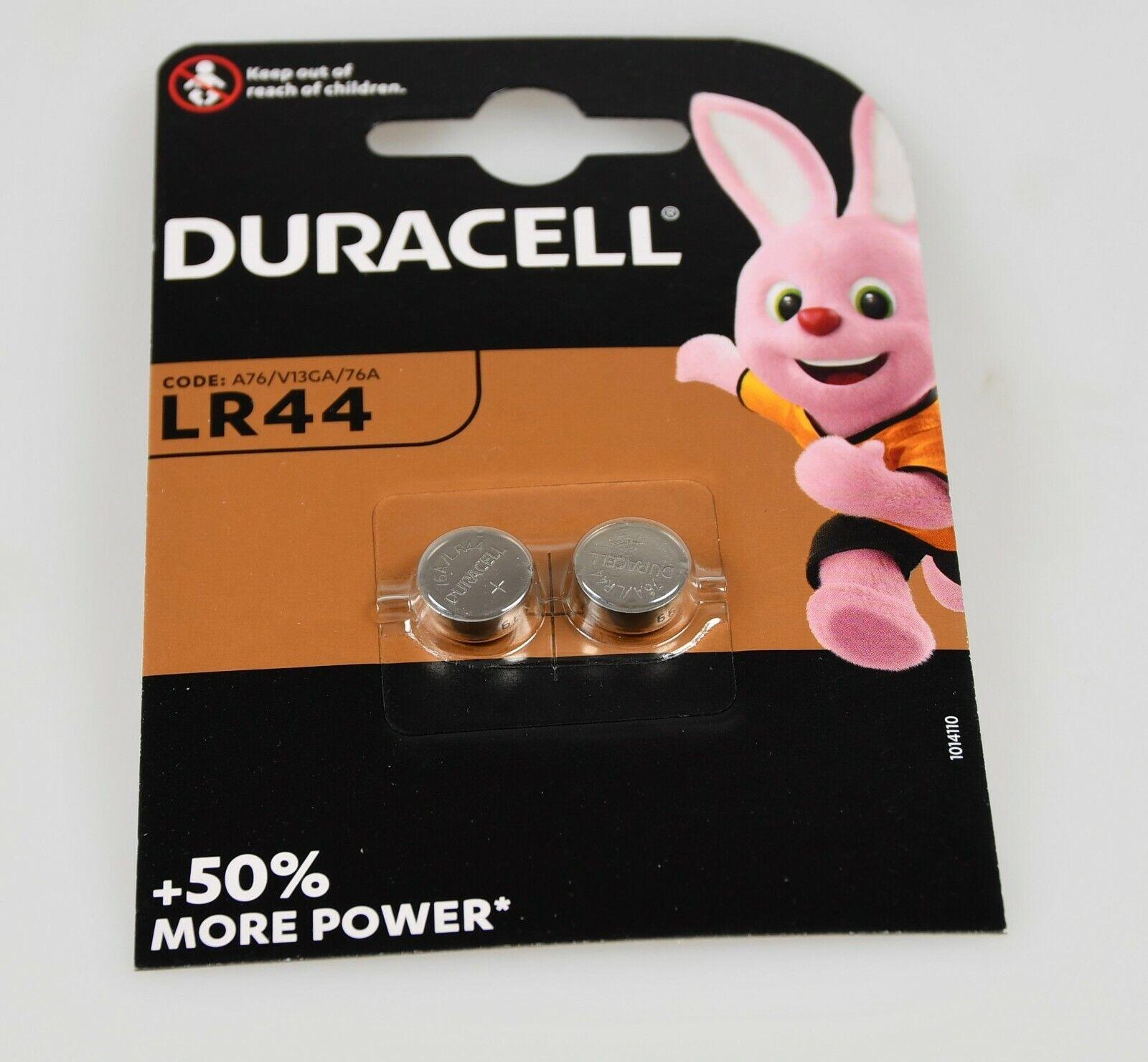 2 Batteries lr44 g13a lr1154 l1154 rpx675 d76a a76 DURACELL Button Cell