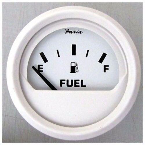 1//2 Faria Dress White Gauge 13101 Fuel Level Gauge E F MD