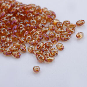 240pcs 5x2.5mm Czech Glass Seed Beads Two Hole Duo Beads DIY jewelry
