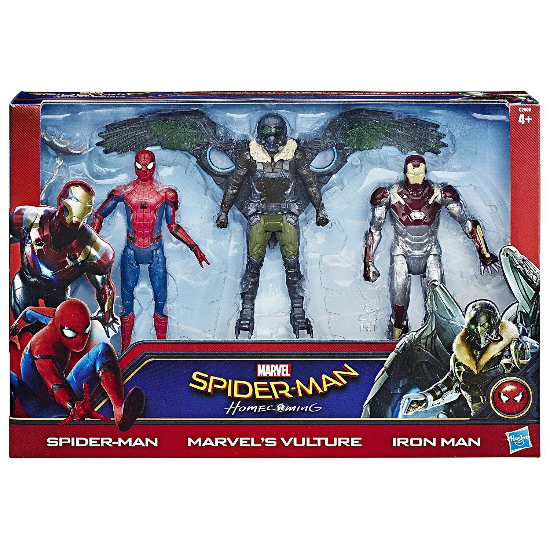 MARVEL Comics Movie SPIDERMAN & IRON MAN vs THE VULTURE 6  action figure toy set