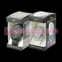 LED Watch Light up Colour Changing Male Female Kids