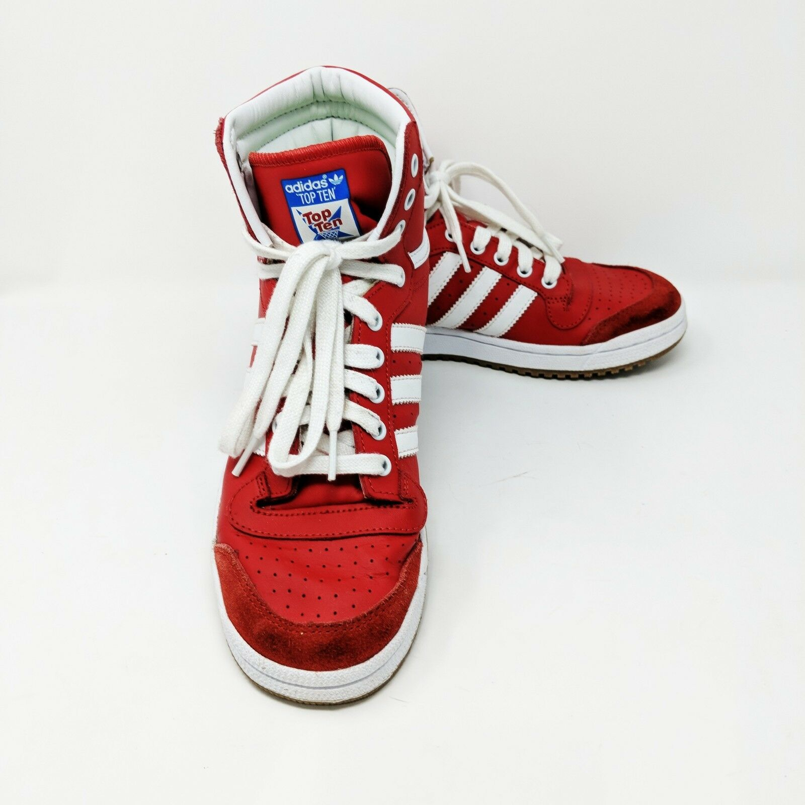 adidas Men's Top Tens Hi Top Red White Gum D74479 Athletic Sneakers Size 6 D74479 Gum d94c5a