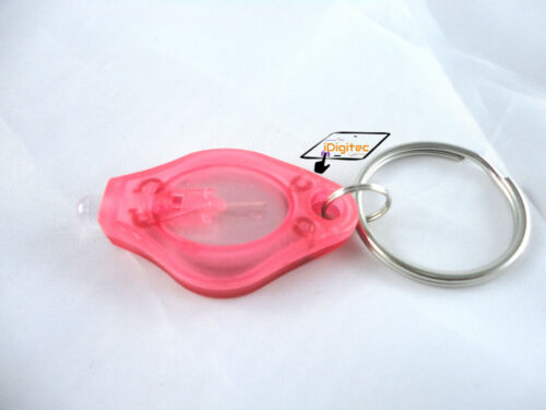 VERY BRIGHT KEYRING LED BUTTON LIGHT TORCH COMPACT