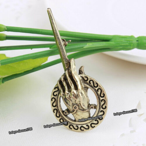 Inspired Hand of the King Pin Brooch Gold Bronze Tone Xmas Gifts Him Her Unique