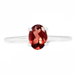 Garnet - Madagascar 925 Sterling Silver Ring Jewelry s.6 BR67972