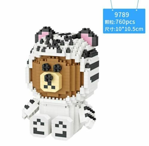 Bear Sit Cute Cartoon 9789 LOZ BLOCK Mini Building Block iBlock b F01