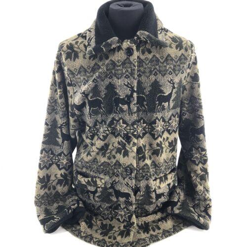 Mackintosh Womens Medium Fleece Jacket Coat Print… - image 1