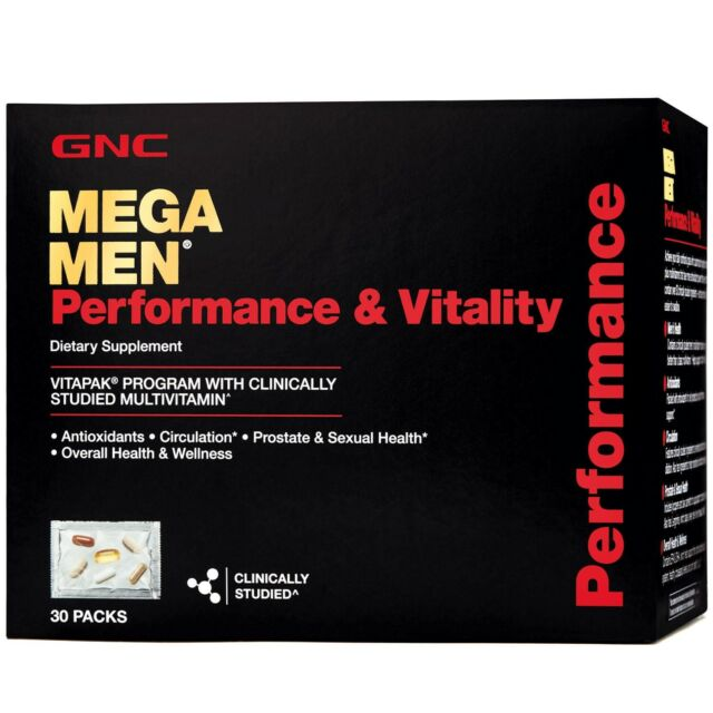 GNC Mega Men Performance and Vitality Vitapak Program - 30 Pack