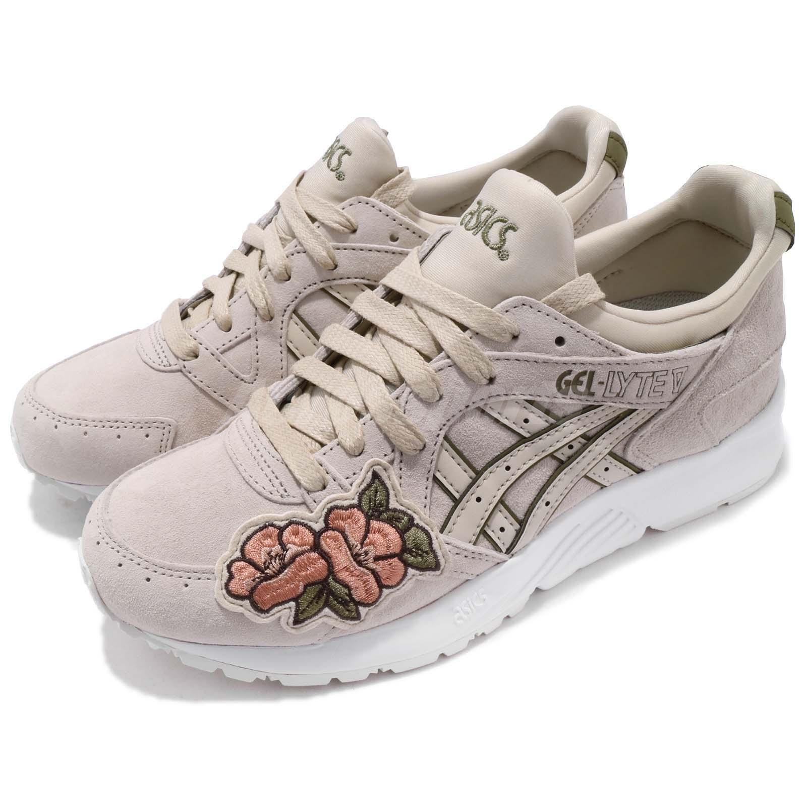 Asics Tiger GelLyte V Birch bianca Floral Men donna Running scarpe da ginnastica H8G5L0202