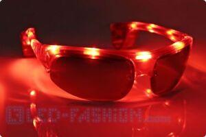 ankommen beste Turnschuhe heißer verkauf authentisch Details zu Retro LED-Sonnenbrille rot Blinkende Brille Accesoire Festival  Karneval Fasching