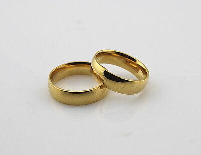 60stk Edelstahlringe goldene Ehepartners top Qualität Ringe 6mm