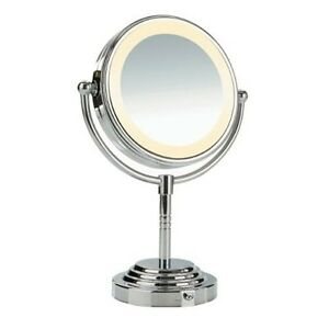 conair lighted makeup mirror double sided halo battery vanity magnifying chro. Black Bedroom Furniture Sets. Home Design Ideas