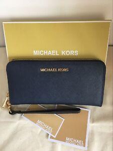 099316dc7dd5 Image is loading Michael-Kors-Jet-Set-Saffiano-Leather-Travel-Wallet-