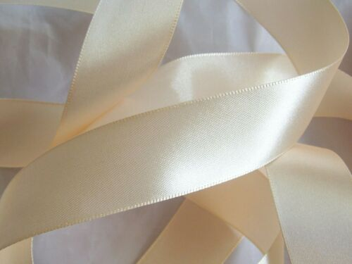 Cream Double Sided Satin Ribbon 3mm 6mm 10mm 16mm 25mm 38mm