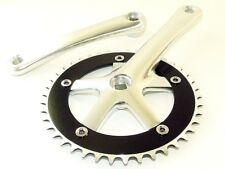 Fixed gear Single Track Cranks Crankset 170mm 46t Silver w103 Bottom Bracket
