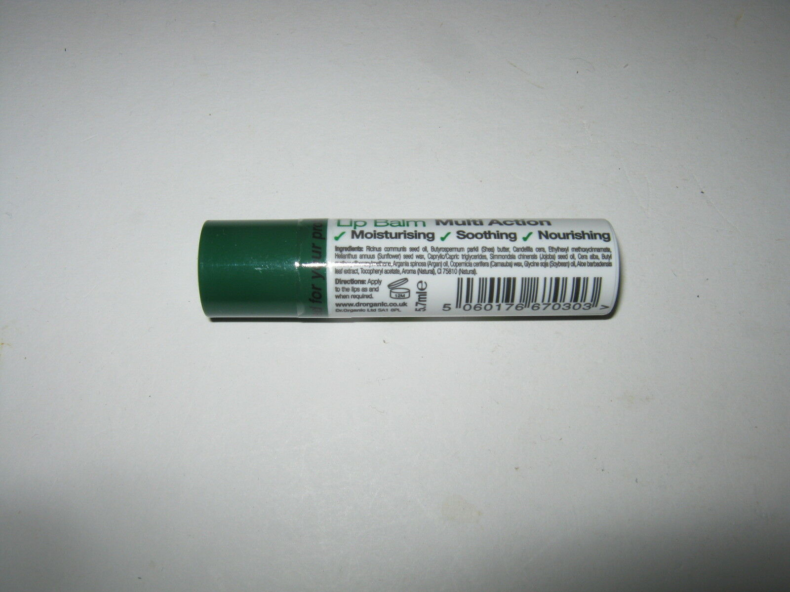 Dr Organic Lip Balms - 12 Varieties to Choose From Aloe Vera