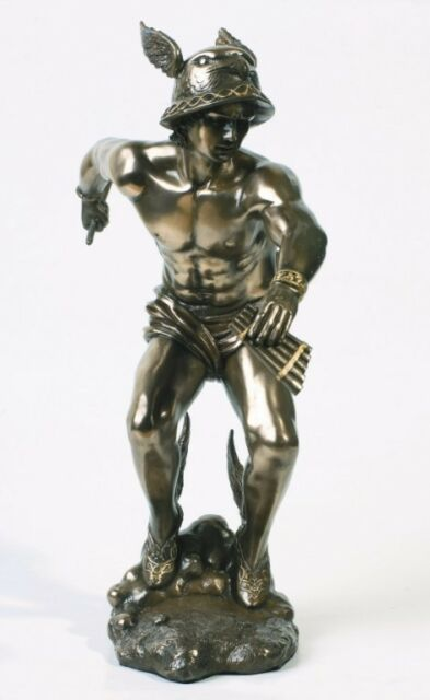 HERMES MERCURY STATUE.THE MESSENGER OF GOD FIGURE.GREEK GREECE ROMAN COLLECTIBLE