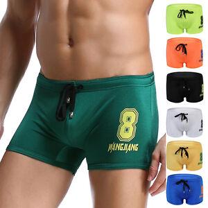 Uomo-Pantaloncini-Da-Nuoto-Bagno-Boxer-Slip-Prendisole-Costume-20-3cm ...