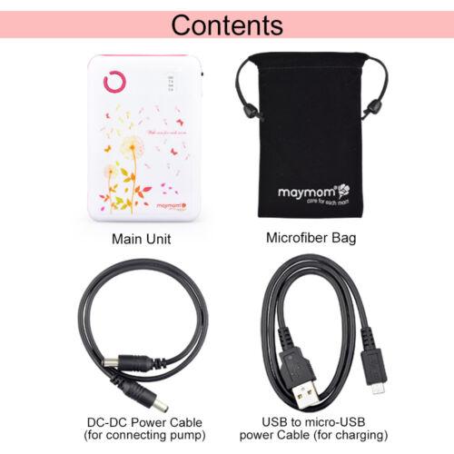 Maymom Breastpump Power Bank Kit for Medela and Spectra breastpump