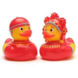 Entenpaar-Russisches-Brautpaar-Quietscheentchen-Plastikente-Gummiente-Badeente