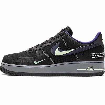 Espectador En marcha Ondular  Nike Air Force 1 07 One Low Future Swoosh Pack CT1621-001 Black Purple  Green | eBay