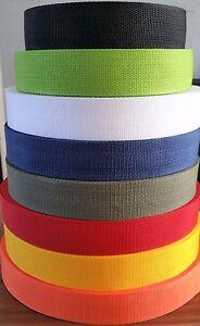 Strong Polypropylene Webbing Strap Tape Strapping Bag Weave Lead Handle Belt New
