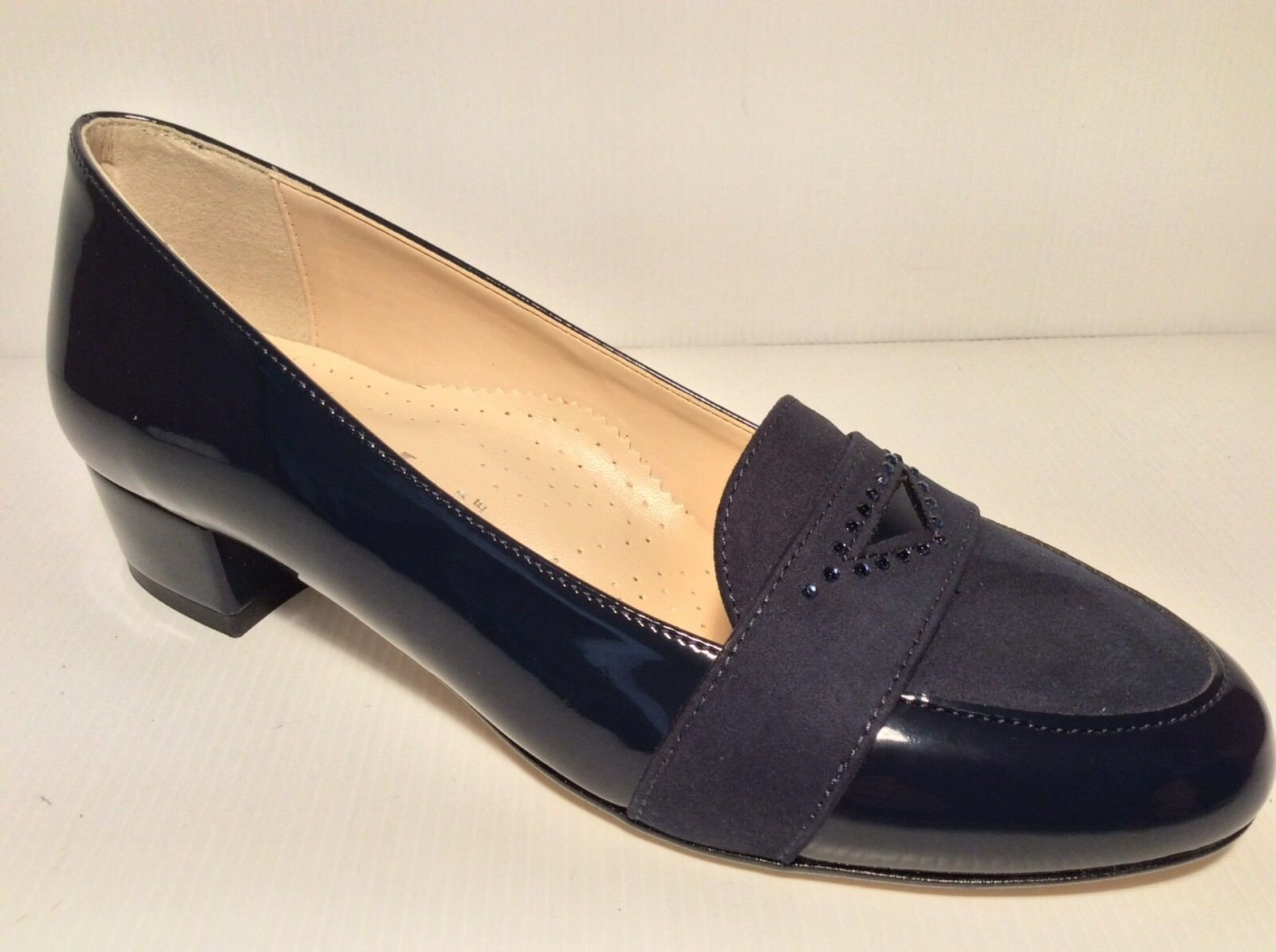Chaussures DECOLTE' Femme MM CONFORT 301 COL BLU MADE MADE MADE IN ITALY TACCO 30 6520ab
