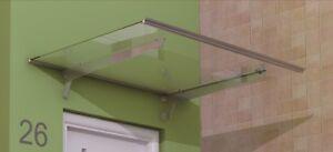 Alu Vordach Glasvordach Aluminium Vordach Türvordach T-serie 150cm Fassade Vordächer