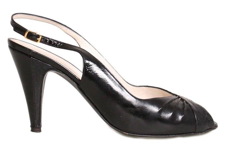 BRUNO MAGLI Slingback Leather Sandals (SIZE 7)