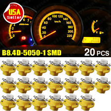 20x T5 B8.4D 1-SMD Amber Yellow 5050 LED Instrument Cluster Gauge Light Bulb US