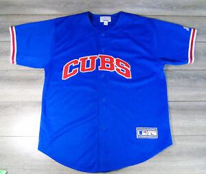 Vtg-Starter-Athletic-Apparel-Chicago-Cubs-Camiseta-LG-XL-Beisbol-MLB-Azul