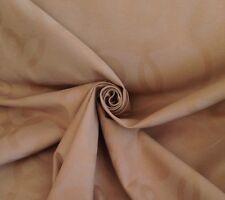9 Metres Art Deco Retro Circle Design Cotton Curtain Upholstery Fabric In Latte
