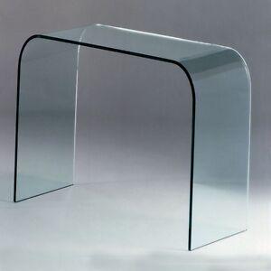 Group design consolle bristol in vetro trasparente per for Consolle in vetro per ingresso