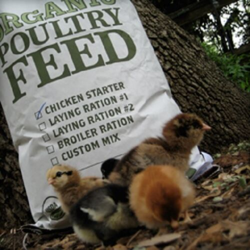 USDA Certified Organic Chick Starter, Chicken Feed