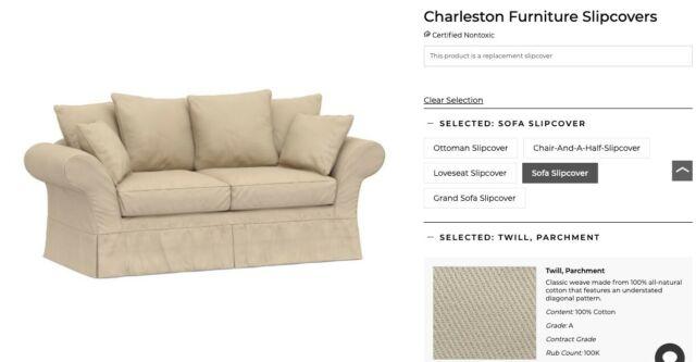 Pottery Barn Charleston Sofa Replacement Slipcover ...