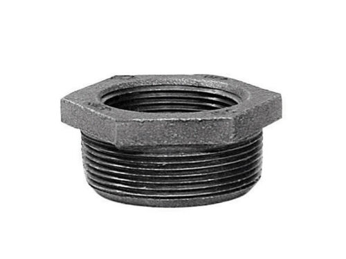 Anvil Schedule 80 1-1//4in x 1in  MPT To FPT Black Malleable Iron Hex Bushing