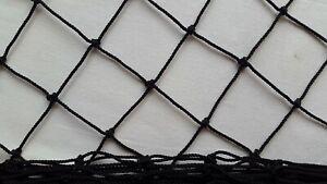 Black Garden Netting 60x60mm Mesh Anti Bird Plant Pond Net Protection 2.60mWidth