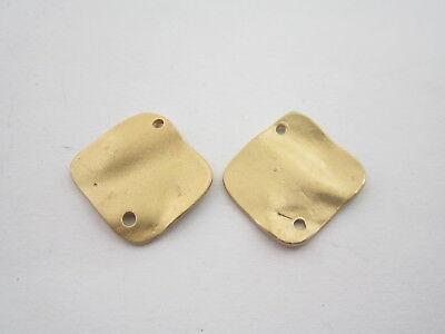 8 componenti connettori in zama placcato oro giallo effetto satinato  20x11 mm