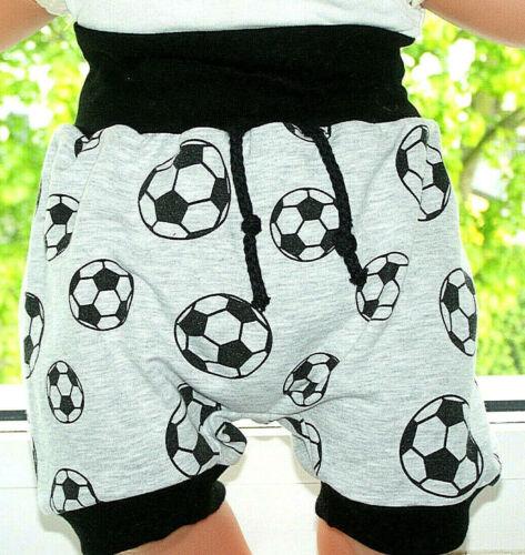 Coole kurze Kinder Pumphose Jersey grau Fußball  größe 80,92,Handmade*Neu*